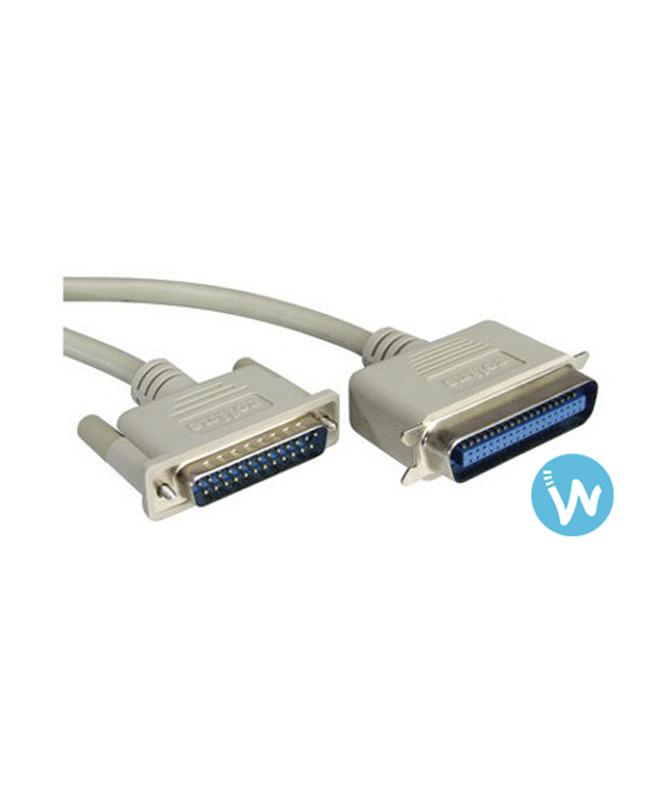 Câble parallèle Centronics - M/F - 1M80