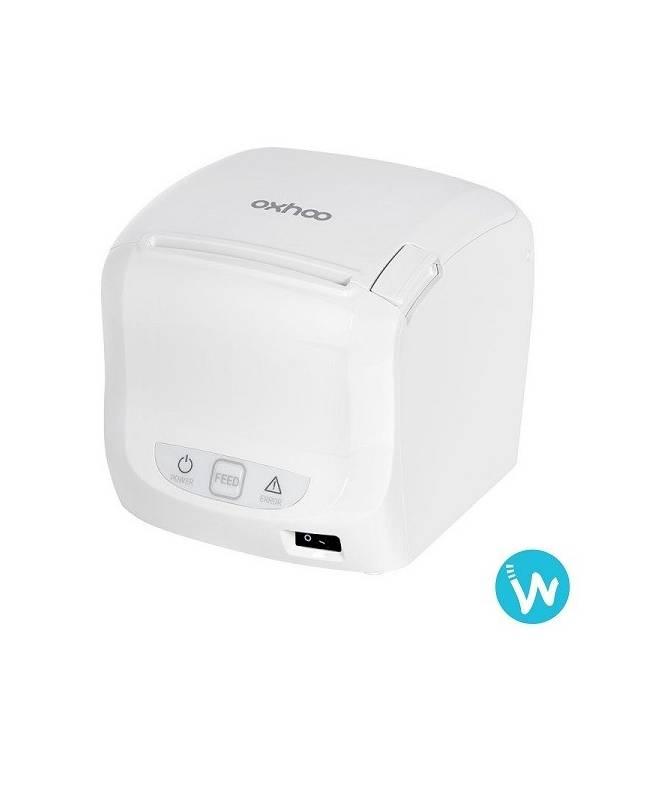 Imprimante ticket caisse thermique Oxhoo TP50 noire ou blanche Waapos