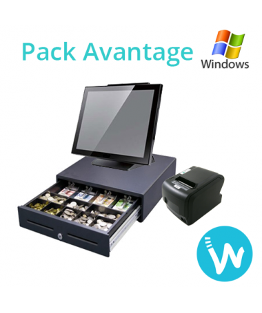 Caisse enregistreuse tactile Pack Avantage base Windows