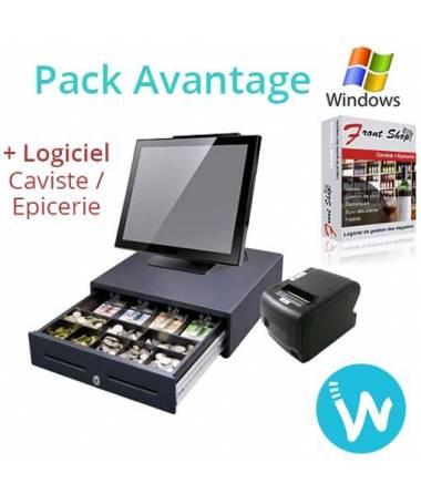 Caisse enregistreuse tactile Pack Avantage + Logiciel Caisse FS Caviste / Epicerie