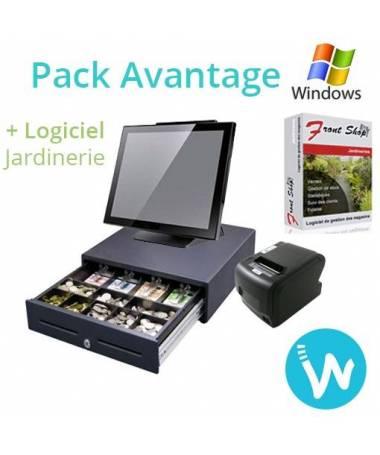 Pack caisse enregistreuse Avantage + Logiciel Caisse FS Jardinerie certifié NF525