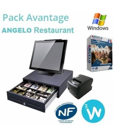 Pack caisse tactile Avantage + Logiciel ANGELO Restaurant