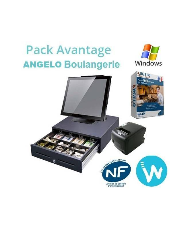 Pack caisse enregistreuse tactile Pack Avantage ANGELO BOULANGERIE
