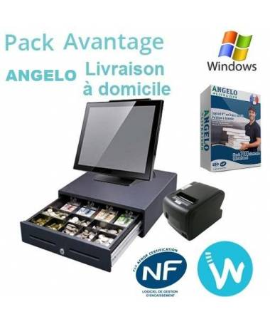 Pack caisse tactile Avantage + Logiciel ANGELO Livraison à domicile