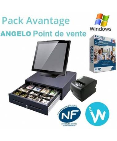 Pack caisse enregistreuse tactile Pack Avantage ANGELO Point de Vente
