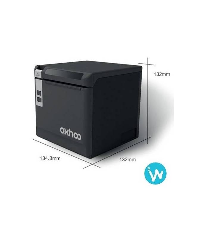 Imprimante ticket caisse thermique Oxhoo TP85 noire ou blanche Waapos