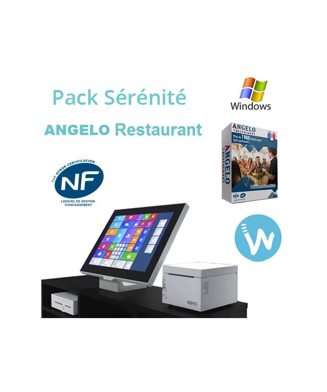 Pack caisse tactile Sérénité + Logiciel de caisse ANGELO Restaurant