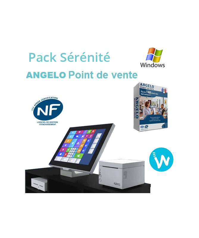 Pack caisse tactile Sérénité + Logiciel de caisse ANGELO Point de vente