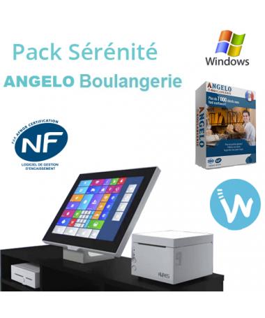 Pack caisse tactile Sérénité + Logiciel de caisse ANGELO Boulangerie