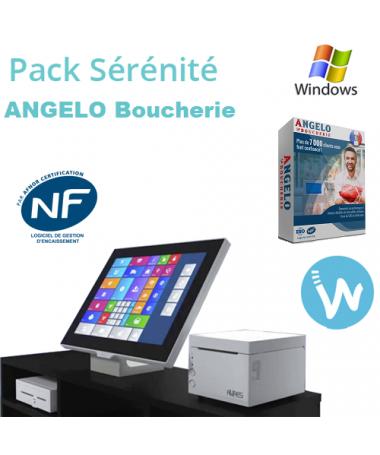 Pack caisse tactile Sérénité + Logiciel de caisse ANGELO Boucherie