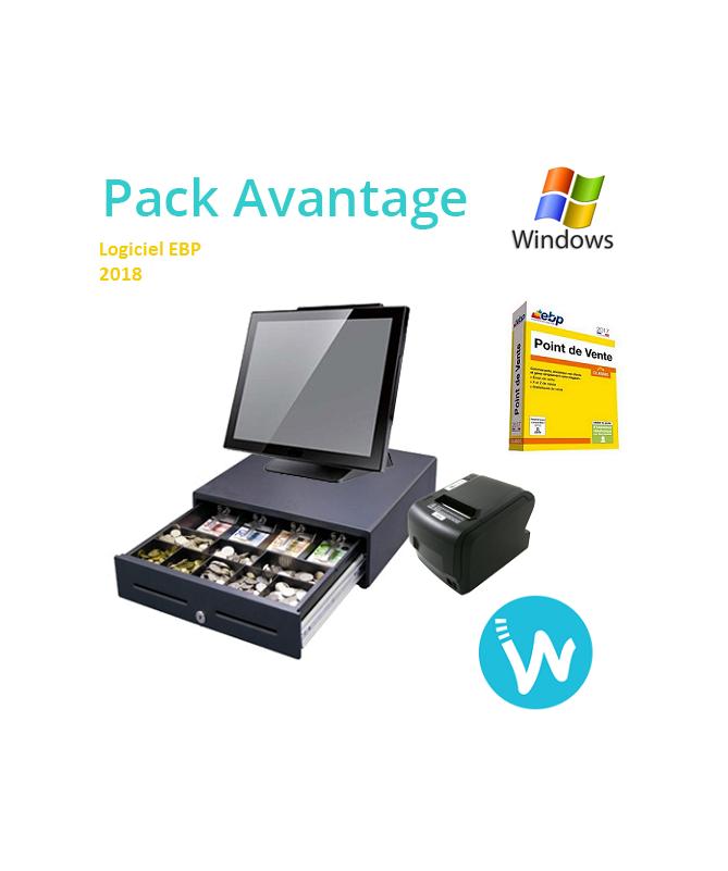 Pack caisse enregistreuse  Avantage + logiciel caisse EBP Point de vente classic 2018