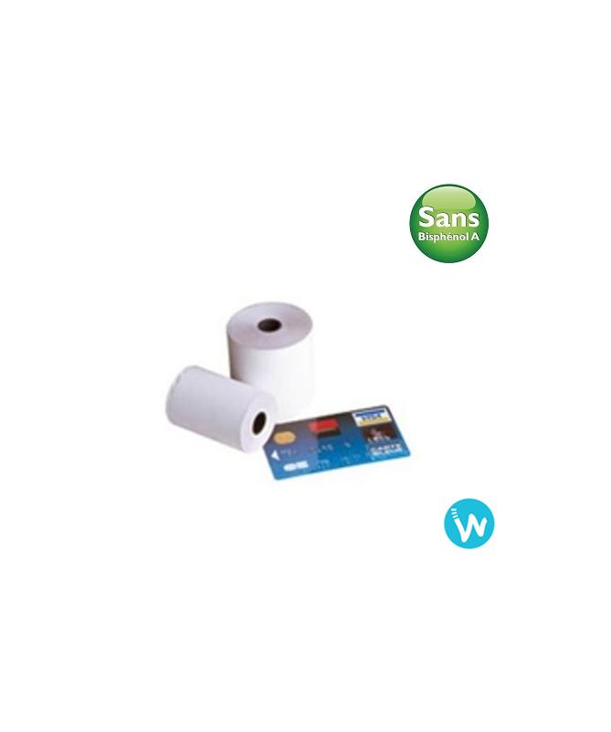 50 Bobines papier 57X40 thermique sans bisphénol A