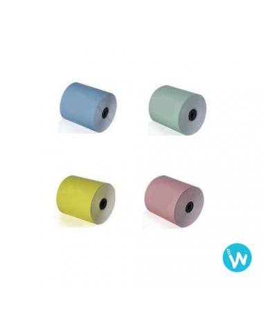 Papier TPE couleur 57x40 mm papier thermique 4 couleurs