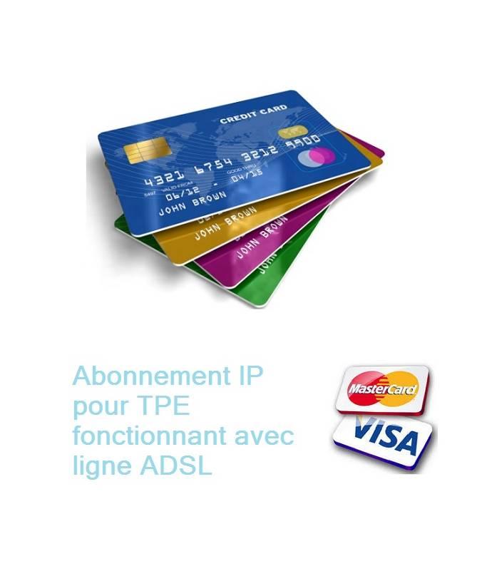 Abonnement IP pour TPE - sécurisation des données bancaires