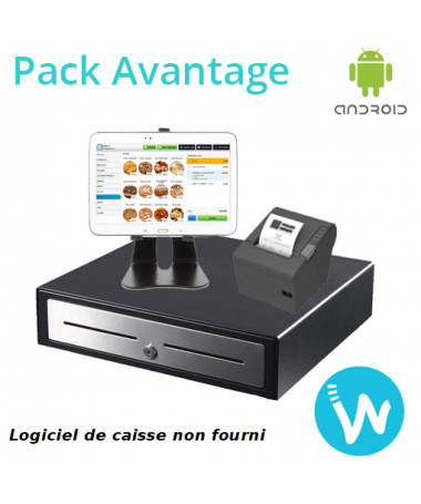 Pack caisse enregistreuse tactile tablette Android