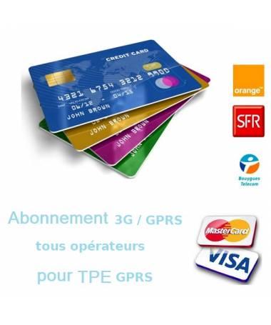 Abonnement GPRS / 3G pour terminal de paiement gprs - sécurisation des données bancaires