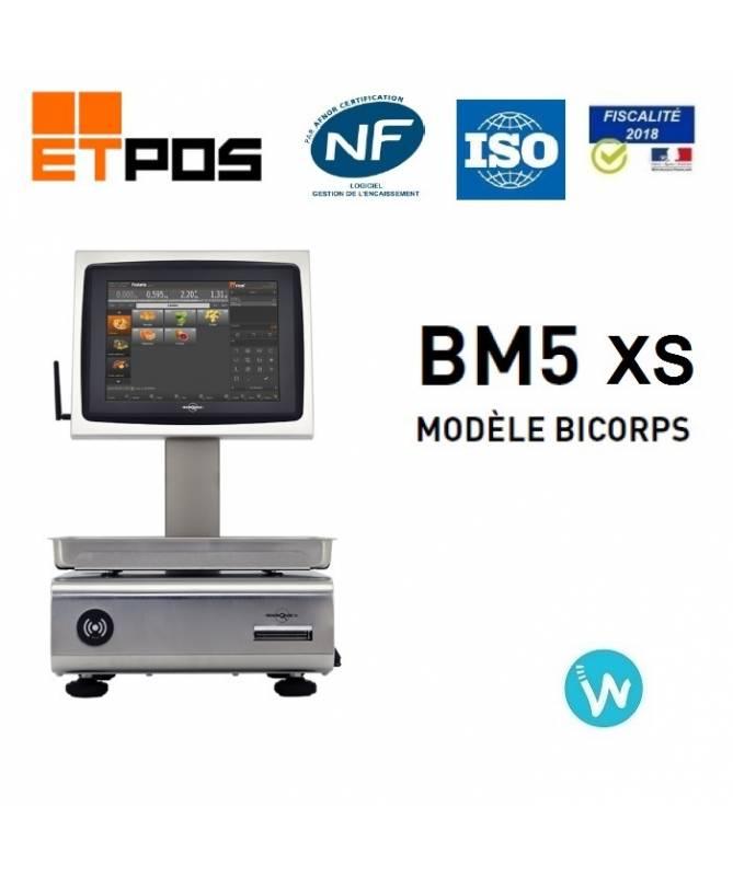 Balance de caisse tactile BM5 XS + logiciel ETPOS