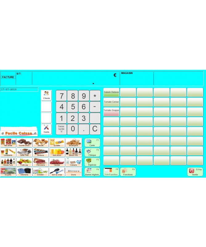 Facile Caisse -  tout commerce - Waapos - Interface de vente
