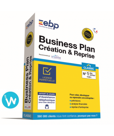 Logiciel de caisse EBP Business Plan Création Reprise Classic + Services VIP