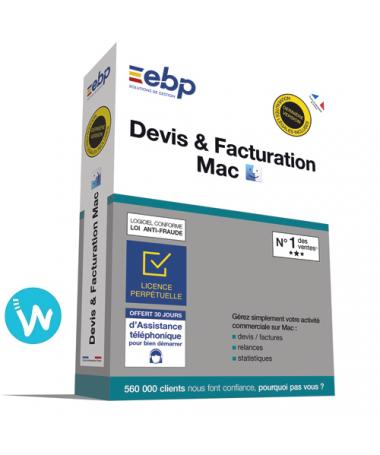 Logiciel de caisse EBP Devis & Facturation 2020 pour MAC