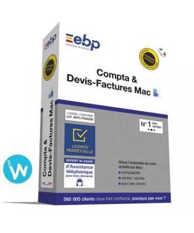 Logiciel EBP Compta & Devis - Factures 2020 pour MAC
