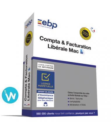 Logiciel EBP Compta & Facturation Libérale 2020 pour MAC
