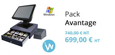 Pack avantage caisse enregistreuse Windows